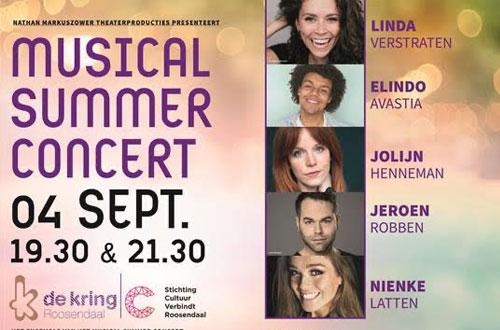 De Kring Roosendaal trapt theaterseizoen af met Musical Summer Concert