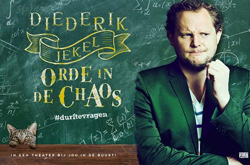 Diederik Jekel gaat tijdens theatertour Orde in de Chaos scheppen